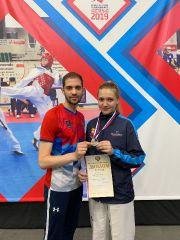 Пеконкина и тренер Никифоров с серебром