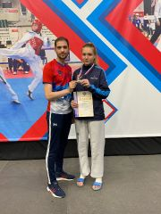 ПЕконкина Аня и тренер Александр Никифоров